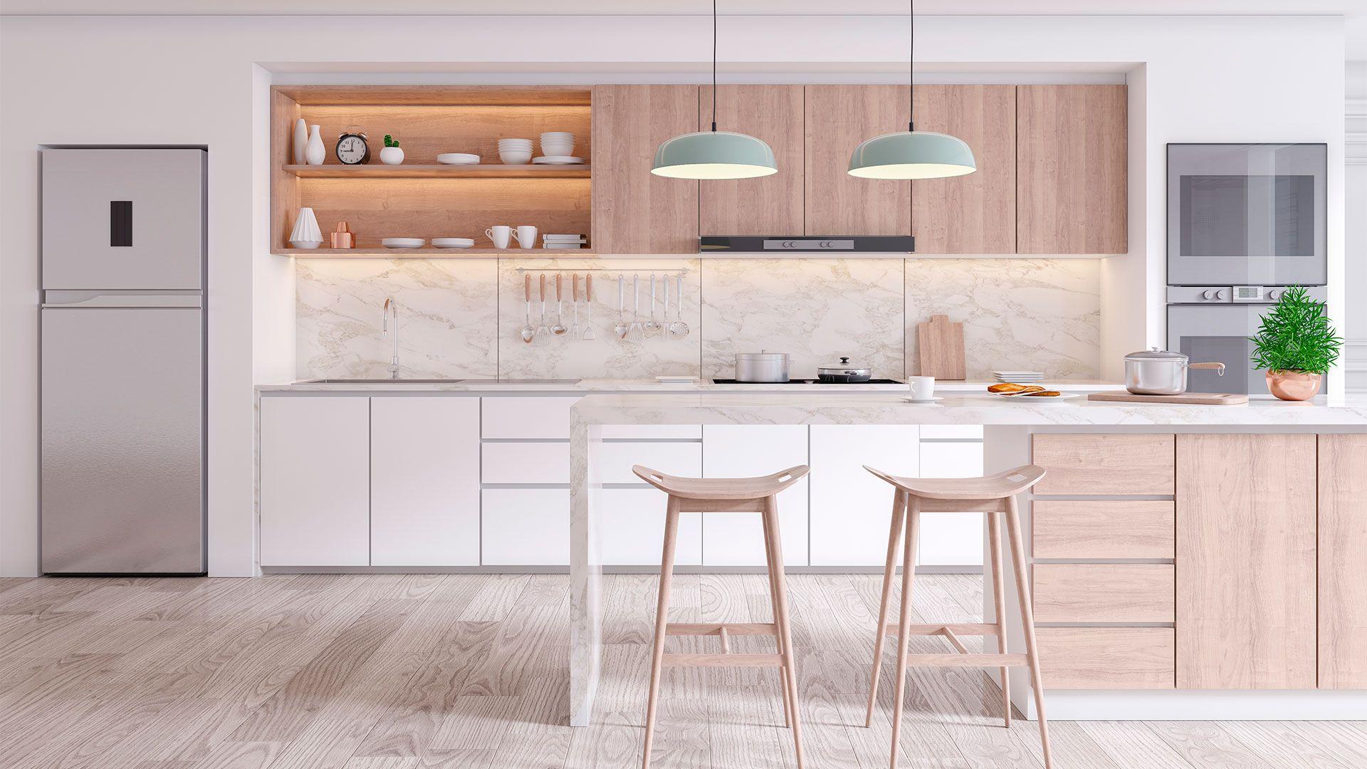 Cocina diseñada por Soinco para una promotora inmobiliaria
