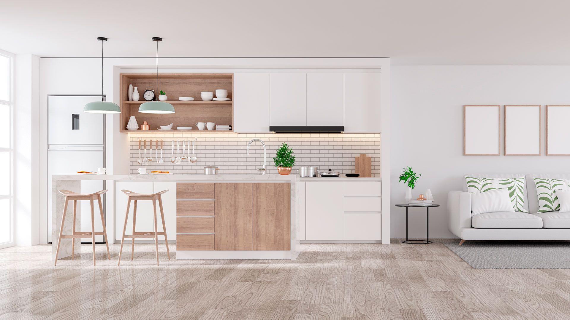 Cocina diseñada e instalada por Soinco para una constructora inmobiliaria